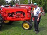 Dad with the Massy Harris 30 that he bought almost 60 years ago