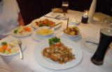 Our meals (I had Schweineschnizel (pork with onions & fried potatoes)