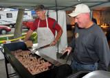 Don & Joe on brat detail at Fort Loramie German Heritage Days