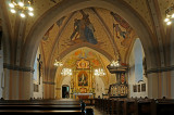Interior of St. Maria Church in Vechta, Germany