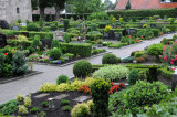 Cemetery surrounding St. Maria church in Vechta, Germany
