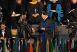 Natalie receiving her diploma