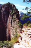The Angels Landing trail leads up that narrow edge