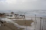 Storm hits Tel Aviv beach