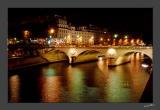 Le Pont St Michel, floodlit - 2892
