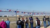 Everybody watching the P-51 taxiing in