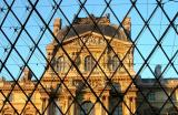 Louvre through the glass pyramid