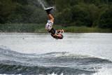 Female wakeboarder