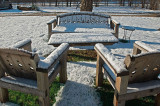 Snow covered couches