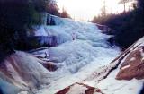 Upper Creek Falls  NC  In the Winter  50  Ft.
