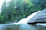 Middle Falls At Triple Falls, At DuPont  State Forts NC. Total Drop 100 Ft.