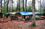 The camp, between the the rains