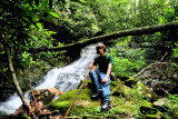 My Grandson(14)I nick name Bubbly on this 1St Bushwhacking hike back to some Falls