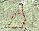 Map Of Sat Day Hike (8/28/10)