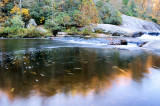 Reflection Of Fall # 2, Made on the Little River  Near Sparta NC
