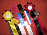 All his ribbons