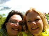 Pam & Kim & a Maid of the Mist on Pam's head!!