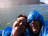 Pam & Kim with falls in background