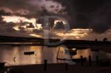 A Lagoa de Óbidos em 27 de janeiro de 2011