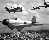 1941 - NAS Miami Northrop BT-1 torpedo bombers north of downtown Miami