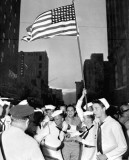 1945 - Navy sailors celebrating in downtown Miami