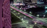 1973 - time exposure from our Century Plaza Hotel balcony