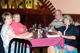 October 2008 - Linda Mitchell Grother, Karen and Don Boyd, and Brenda at El Segundo Viajante in Hialeah