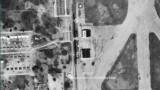 1952 - aerial closeup view of hangars adjacent to LeJeune Road at Amelia Earhart Field