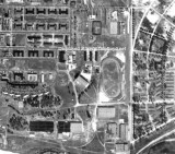 1952 - an aerial image of the former Opa-locka Speedway owned by Joseph F. Reitano, his brother Pete (Vito) and L. N. Dod