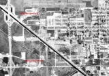 1963 - aerial view of Palmetto Speedway in Medley and Hialeah Speedway in Hialeah