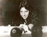 1976 - Linda Hudish, formerly of Hialeah, playing pool and the photo won AP Photo of the Year as best photo