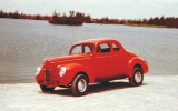 1969 or 1970 - Richard Wood's 1940 Ford by the Miller Road lake east of the Palmetto (comments below)