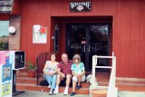 October 2008 - Linda Mitchell Grother, Don and Brenda at the last Lums restaurant in the southeastern USA