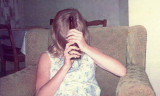 1968 - Brenda still camera shy at my home in Hialeah