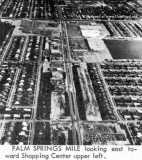 Early 1964 - aerial view of Palm Springs Mile looking east