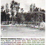 1953 - the Bell Haven Trailer Park pool featured in an ad for a trailer manufacturer, Miami (lot of comments posted below)