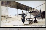 Late 1910's - Joseph George Carpenter, a flight instructor at Glenn Curtiss Field with a Curtiss JN-4B Jenny