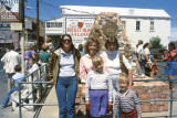 1985 - Karen Johnson, Karen C. Boyd, Karen D. Boyd, Brenda and her son Justin at Pony Express Centennial Monument