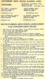 1960's - Southern Mini Stock Racing Association officers and rules