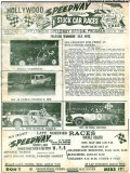 1966 - page 1 of the Hollywood Speedway program