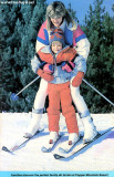 1986 - Brenda and Justin in another Copper Mountain Resort advertising brochure
