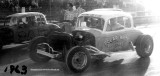 1962 or 1963 - Polar White roof coating sponsored car and Freeman Sod sponsored car racing at Hialeah Speedway