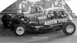 1962 or 1963 - Austin Ford sponsored car at Palmetto Speedway, Medley