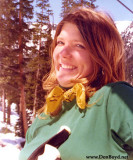 1975 - Brenda on the ski lift at Arapahoe Basin, Colorado