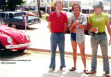 Mid 1970's - Goatboy, Greg Allen and Kent Blanton in the Pier Park parking lot at South Beach
