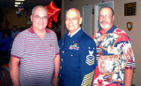May 2009 - Don Boyd, Master Chief Jim Walters and Bob Pear at Jim's retirement celebration from the U. S. Coast Guard Reserve