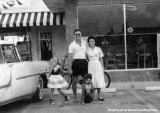 Late 1950's - Charles and Billie Bechter in front of their Dairy Queen and Pappee's Restaurant on E. 4th Avenue, Hialeah
