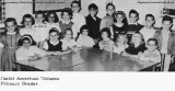 1963 - closeup of DuPuis Junior American Citizens Class Officers from primary grades