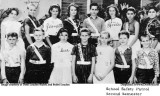 1963 - closeup of the DuPuis Elementary Safety Patrol for the second semester