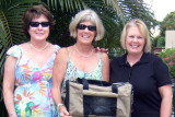 June 2009 - Linda Mitchell Grother, Brenda Reiter and Karen Boyd with Brenda's cat Star in the travel bag